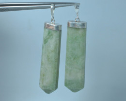 176.90 Ct Natural Calcite Pendent with silver