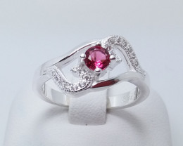 PURE 925% RINGS WITH TOP CLASS CUBIC ZIRCONIA P#19