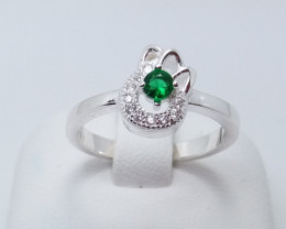 PURE 925% RINGS WITH TOP CLASS CUBIC ZIRCONIA P#22