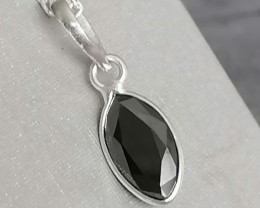 Black Diamond Solitaire Pendant 2.10cts. With Chain