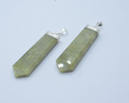 134.40 NATURAL GROSSULAR PENDENTS WITH SILVER