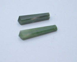 43.80 Natural Nephrite Pendents With Silver