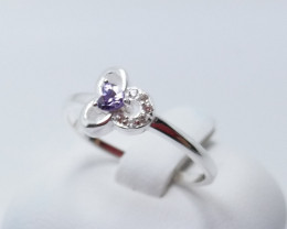 PURE 925% RINGS WITH TOP CLASS CUBIC ZIRCONIA R#5