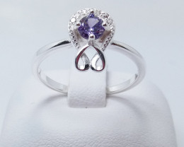 PURE 925% RINGS WITH TOP CLASS CUBIC ZIRCONIA R#7