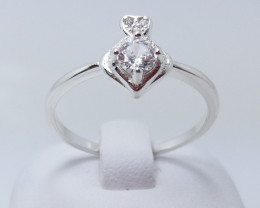 PURE 925% RINGS WITH TOP CLASS CUBIC ZIRCONIA R#25