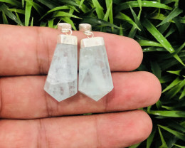 Amazing Color 59.16 Ct Natural Aqua Pendants