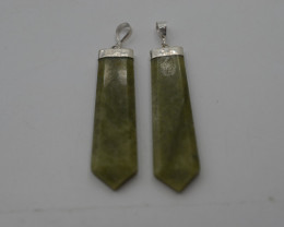 94.35 CT NATURAL GROSSULAR PENDENTS WITH SILVER