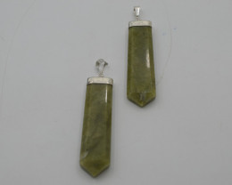 125.75 NATURAL GROSSULAR PENDENTS WITH SILVER