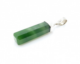JADE NATURAL STONE WITH 925 SILVER PENDANT R#43