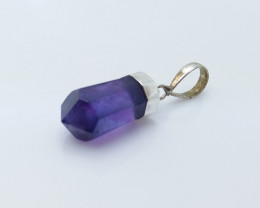 AMETHYST NATURAL STONE WITH 925 SILVER PENDANT R#50