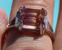Ametrine 3.95ct White Gold Finish Solid 925 Sterling Silver Ring