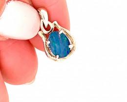 Australian  inlay Opal Silver Pendant  OPJ 2365