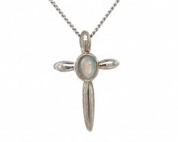 Australian crystal r Opal Silver Pendant OPJ 2372