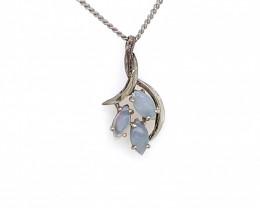 Australian Crystal  Opal Silver Pendant OPJ 2374