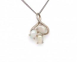 Australian Crystal  Opal Silver Pendant OPJ 2375