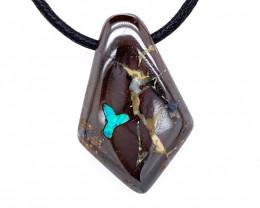 Australian Boulder Opal Silver Pendant OPJ 2381