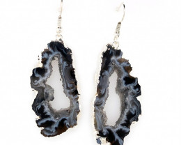 Attractive Druzy earrings silver  ,Sheppard hooks BR 238