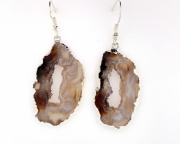 Attractive Druzy earrings silver  ,Sheppard hooks BR 240