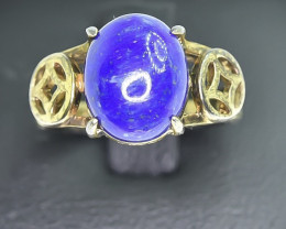 17.75 Crt Natural Lapis Lazuli 925 Silver Ring