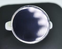 43.15 Crt Natural Black Onyx 925 Silver Ring