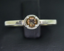 7.21 Crt Natural Tourmaline 925 Silver Ring