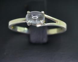 7.58 Crt Natural Tourmaline 925 Silver Ring