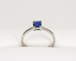 Top Qulity Blue Sapphire Ring 925 Silver.