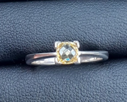 Natural Yellow Sapphire Ring 925 Silver