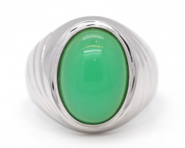 18K Gold Australian Chrysoprase Ring [JR03]