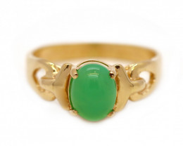 14K Gold Australian Chrysoprase Ring [JR02]