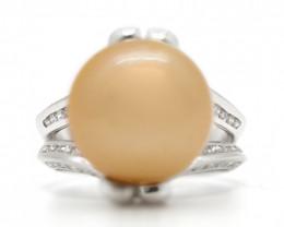 18k South Pacific  Salt  Pearl Ring [JR04]