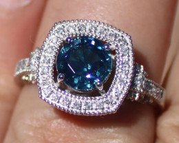 Certified Blue Sapphire 2.05ct Diamonds Solid 950 Platinum Ring