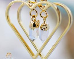Raw beautiful Crystal Heart shape earrings BR 251