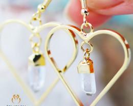 Terminated beautiful Crystal Heart shape earrings BR 252