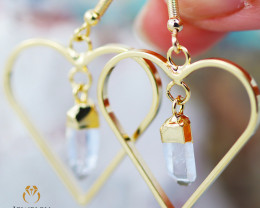 Raw beautiful Crystal Heart shape earrings BR 253