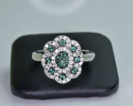 23.20 Crt Cubic Zirconia 925 Silver Ring
