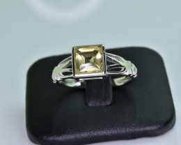 11.57 Crt Natural Citrine 925 Silver Ring