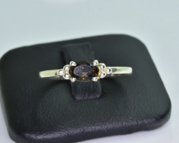 7.13 Crt Natural Tourmaline 925 Silver Ring