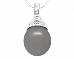 18k Gold South pacific salt natural Pearl Pendent [JP01]