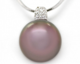 18k Gold South pacific salt natural Pearl Pendent [JP03]