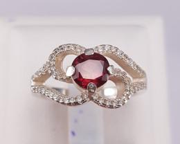 Natural Rhodolite Garent Ring