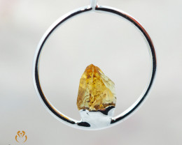 Raw Beautiful Citrine Pendant BR 314
