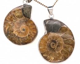 Ammonite Fossil Pendant [2 PCS] BR 335