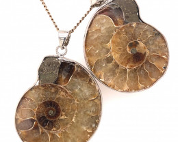 Ammonite Fossil Pendant [2 PCS] BR 337