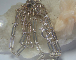 crafted chain  necklace~ ~ 999 silver designs 67.85cts