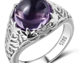 Cute Amethyst Ring - 925 Silver