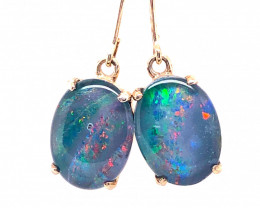 Cute Triplet Opal silver Earrings OPJ 2420