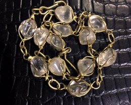 Raw Quartz  Rock Crystal 25 cc l  bracelet,hand made   BR 349