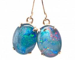 Cute Triplet Opal silver Earrings OPJ 2422