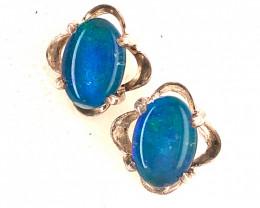 Modern Cute Oval Opal Triplet Earring OPJ 2425